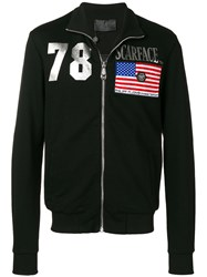 Philipp Plein Scarface Track Jacket Black