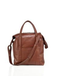 Dsquared Leather Shoulder Bag Brown