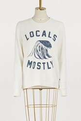 Sol Angeles Locals Mostly Sweatshirt D White