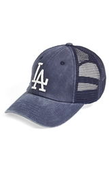 American Needle 'Los Angeles Dodgers Raglan Bones' Mesh Trucker Cap Navy