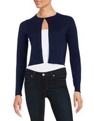 T Tahari Textured Cardigan Navy