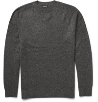 Steven Alan Seamless Wool And Cashmere Blend Sweater Gray