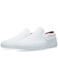 Common Projects Perforated Nappa Slip On White