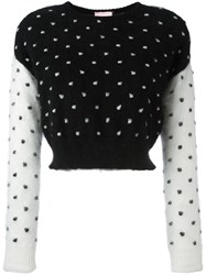 Giamba Polka Dot Jumper Black