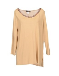 D.Exterior Long Sleeve Sweaters Sand