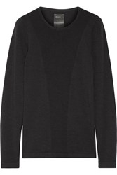 Theory Skin Ck Stretch Jersey Top Black