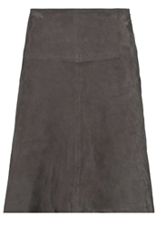 Marc O'polo Leather Skirt Lead Grey Anthracite