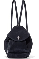 Manu Atelier Fernweh Mini Suede Backpack Midnight Blue