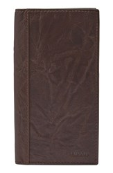 Fossil Men's Neel Leather Executive Wallet Brown