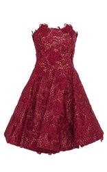 Costarellos Short Strapless Dress Burgundy