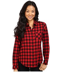 Pendleton Frankie Plaid Shirt Rob Roy Tartan Women's Long Sleeve Button Up Black
