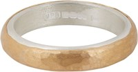 Malcolm Betts Women's Hammered Gold And Silver Band Colorless