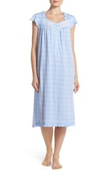 Women's Eileen West Cap Sleeve Print Jersey Waltz Nightgown