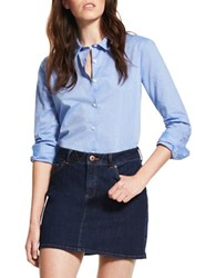 Dl Short Denim Skirt Blue
