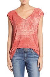 Women's Pam And Gela 'Kate' V Neck Burnout Tee