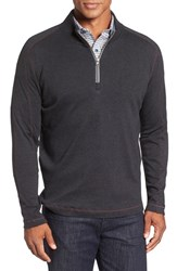 Robert Graham Men's 'Elia' Regular Fit Quarter Zip Pullover Heather Dark Charcoal