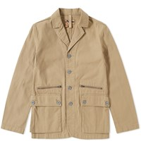 Nigel Cabourn X Lybro Mountain Division Sherpa Jacket Brown