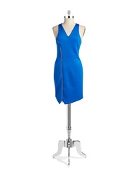 1 State Asymmetrical Sheath Dress Azure Sky
