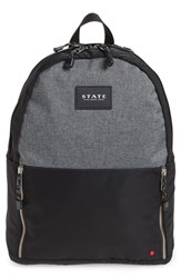 State Bags Atlantic Yards Clark Laptop Backpack Grey Heather Gray