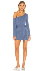 Privacy Please Chloe Mini Dress In Blue. Steel Blue