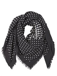 Alexander Mcqueen Skull Wool And Silk Scarf