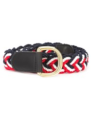 Thom Browne Braided Belt Blue