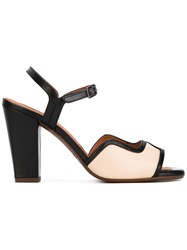 Chie Mihara Contrast Sandals Women Leather 37 Black