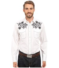 Roper Creeping Vine White Men's Long Sleeve Pullover