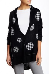 Fate Polka Dot Sweater Cardigan Black