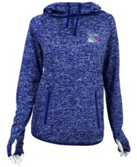 Antigua Women's New York Rangers Recruit Pullover Hoodie Blue