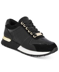 Bebe Sport Racer Lace Up Sneakers Women's Shoes Black