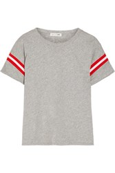 Rag And Bone Vintage Striped Cotton Jersey T Shirt Light Gray