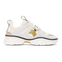 Isabel Marant Grey And Off White Kindsay Sneakers