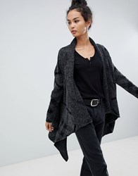 Qed London Knitted Cape Grey