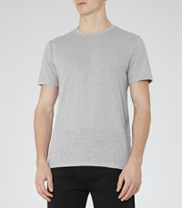 Reiss Barnington Mens Flecked Crew Neck T Shirt In Grey
