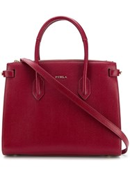 Furla Pin Tote Bag Red