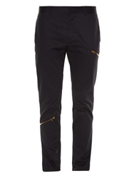 Marni Zip Detail Cotton Twill Trousers