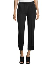 Cnc Costume National Slim Leg Cropped Pants Black Women's