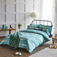 Scion Mr Fox Duvet Cover Teal Blue