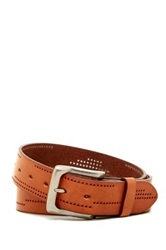 Bill Adler Perforated Detail Leather Belt Brown