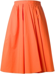 Carven Flared Skirt Yellow And Orange