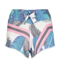 Wildfox Couture Cutie Palm Print Shorts Female Multi
