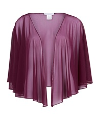 Gina Bacconi Mesh Short Shawl Purple