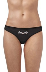 Topshop Women's Anna Embroidered Thong
