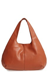 Sole Society Rouge Faux Leather Hobo Brown Cognac