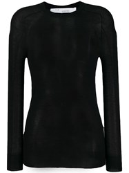 Iro Sheer Cashmere Top Black