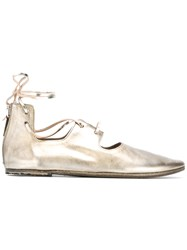 Marsell High Shine Ballerina Shoes Metallic