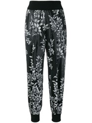 Fendi Floral Tapered Trousers Black