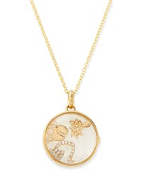 Happiness Charm Locket Necklace Loquet London Gold