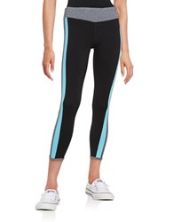 Kensie Colorblocked Athletic Leggings Grey